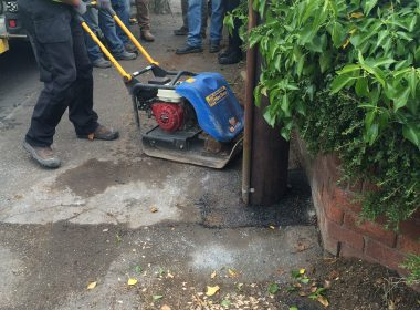Footpath repairs for leading power contractor