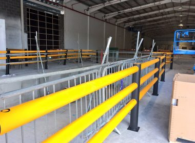 Our latest project in Tullamore is underway, helping protect staff within a new bottling plant, using our iFlex pedestrian railings. #safety https://t.co/7aR2q5w7m3